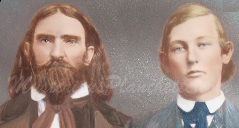 Jonathan Koons and his son Nahum - close to 1857