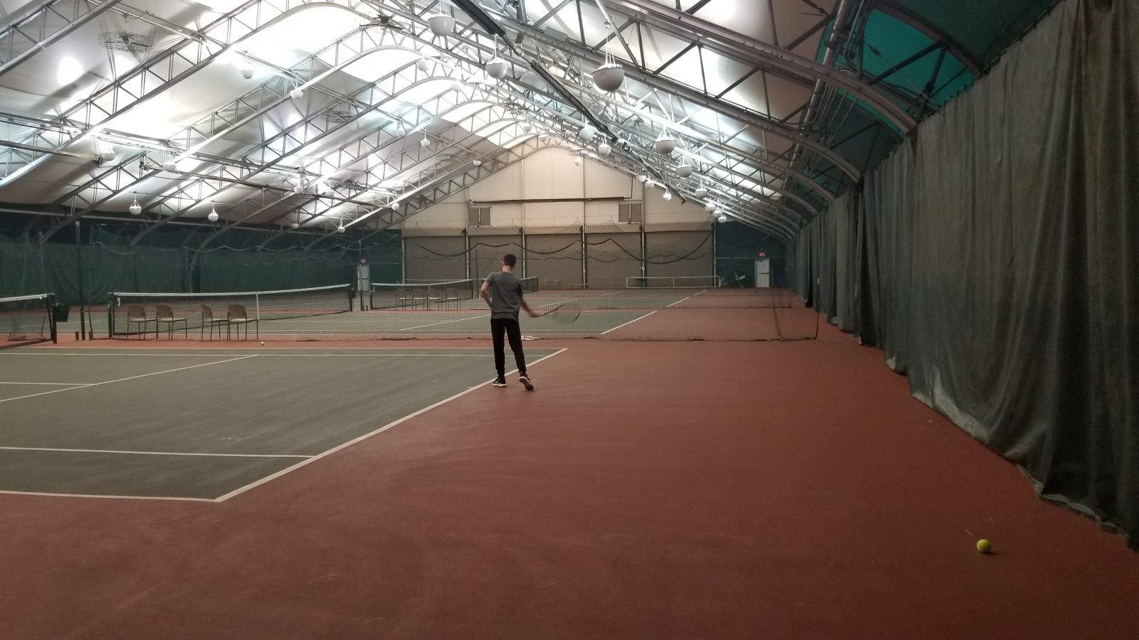 The interior of Ohio University's Tennis Center. Picture by Noah Wolf