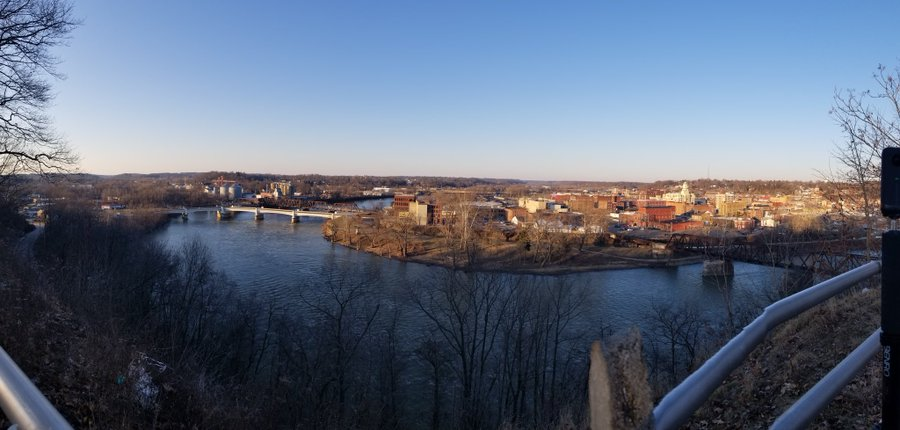 Picture overlooking city of Zanesville - Captured by Noah Wolf